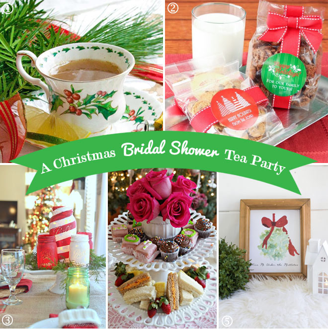 Christmas in red and green tea party birthday