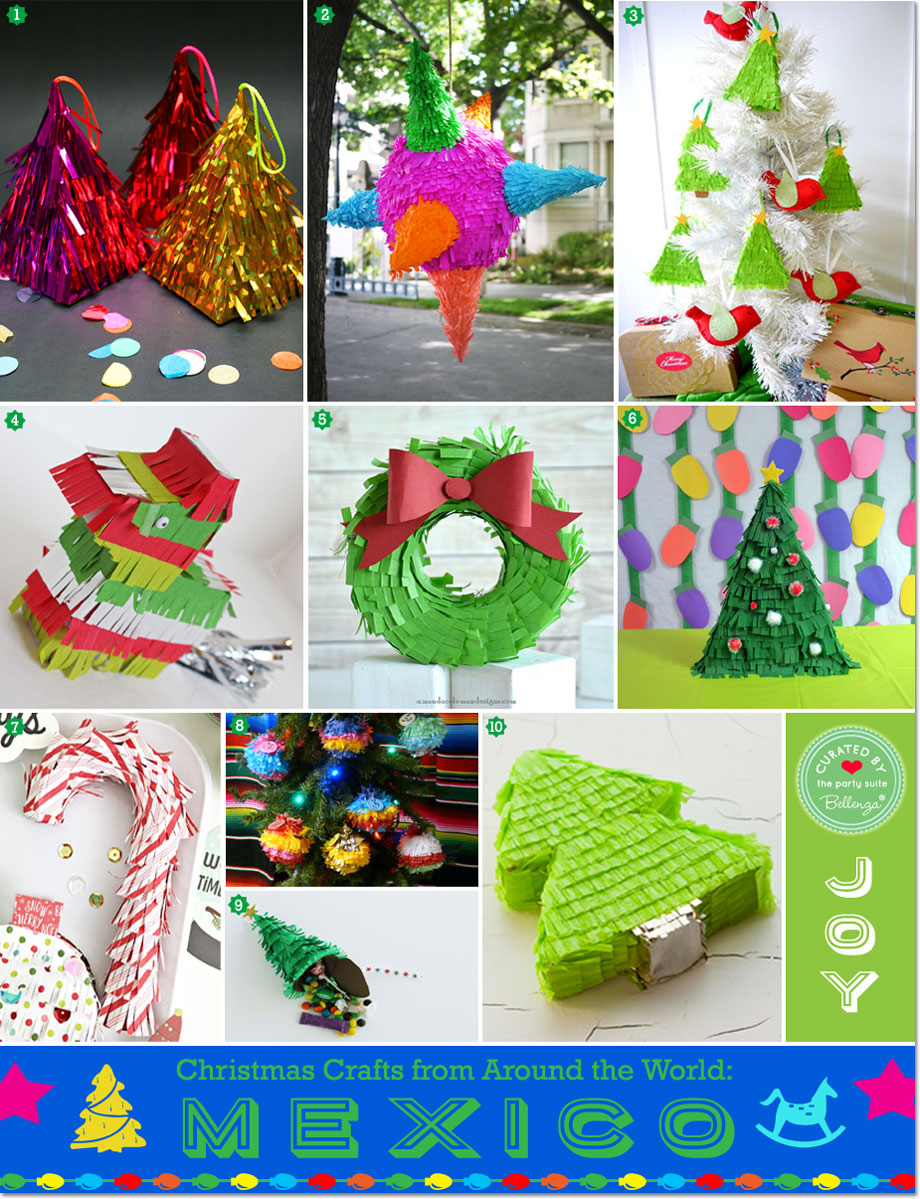 Christmas Around The World Party Ideas Part - 47: Pinata-inspired DIY Christmas Decorations
