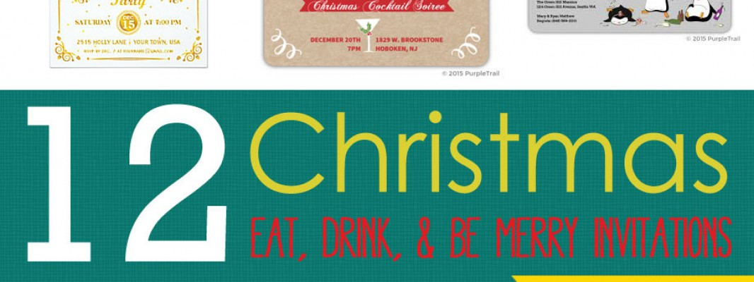 "12 Invitations to ""Eat, Drink and Be Merry!"""