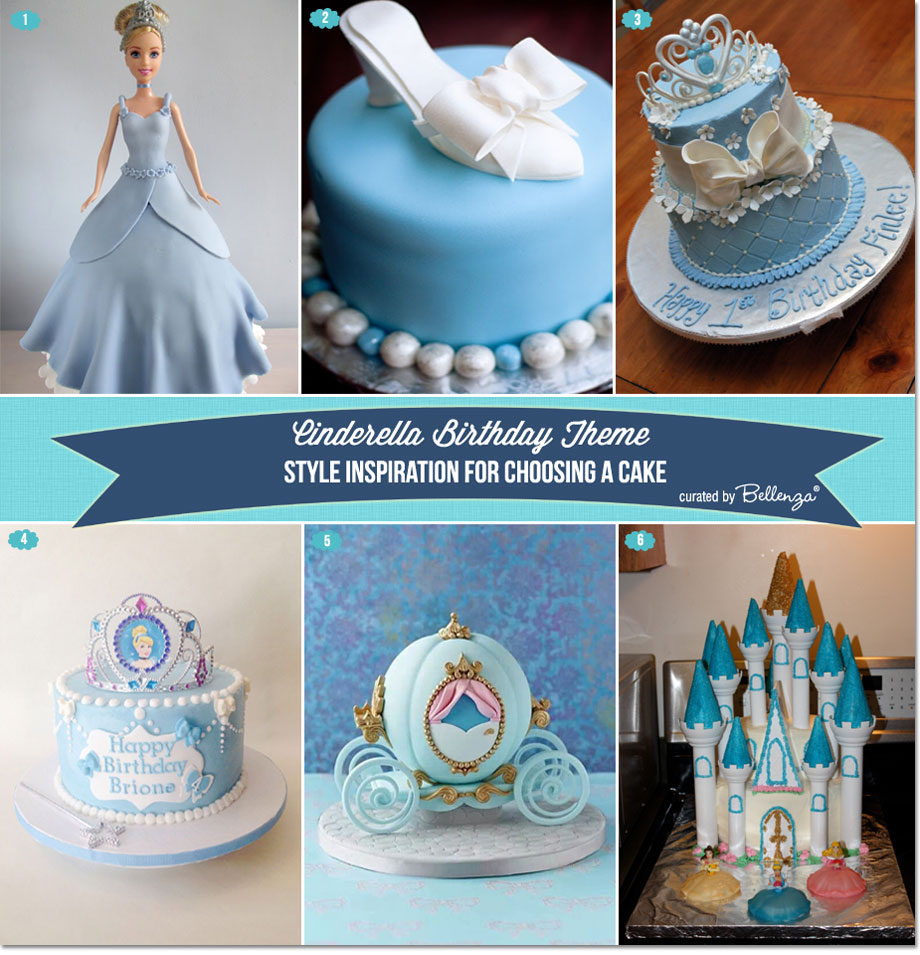Cinderella Themed Birthday Cakes
