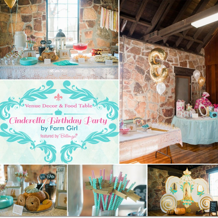 Cinderella Themed Birthday Party by Farm Girl | as featured on the Party Suite at Bellenza.