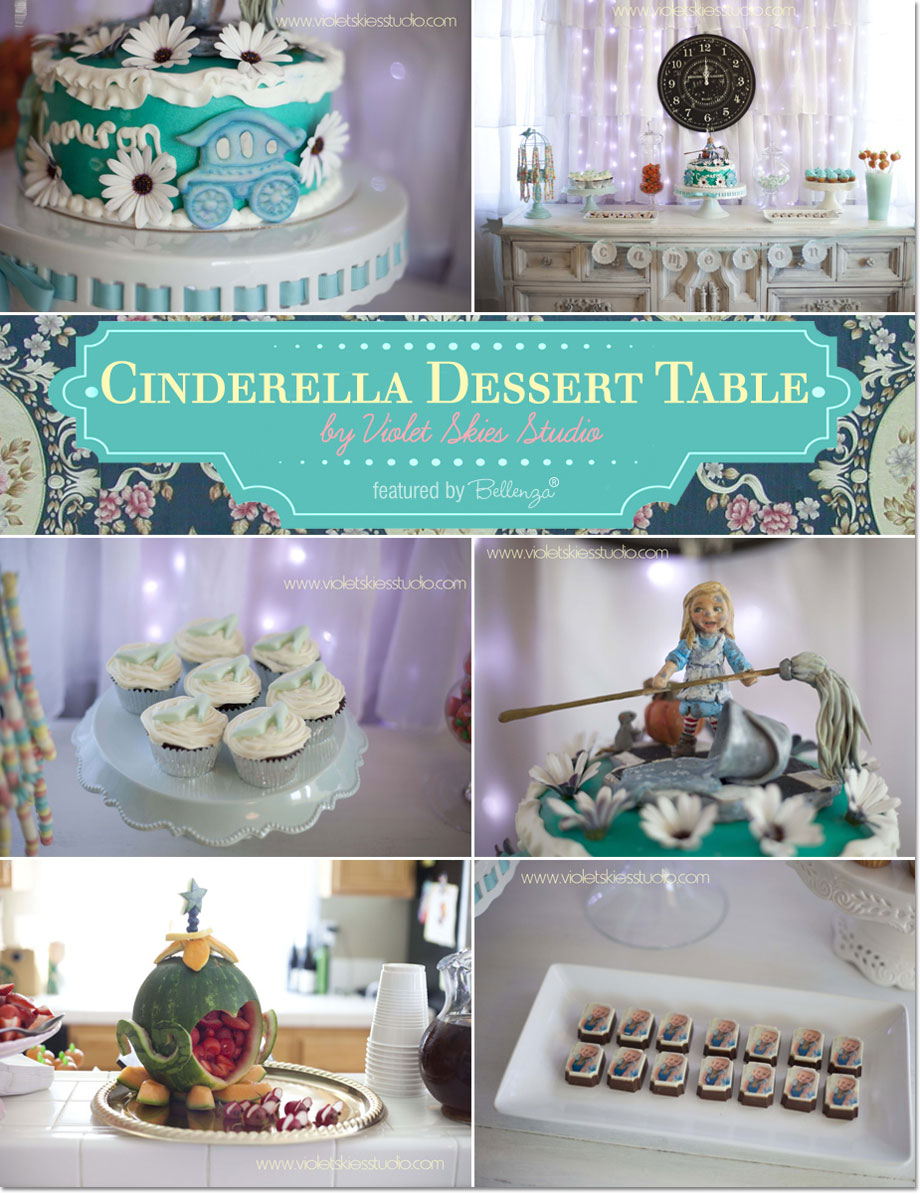 Sweet Details for a Cinderella Party Dessert Table by Violet Skies Studio | as featured on the Party Suite at Bellenza.