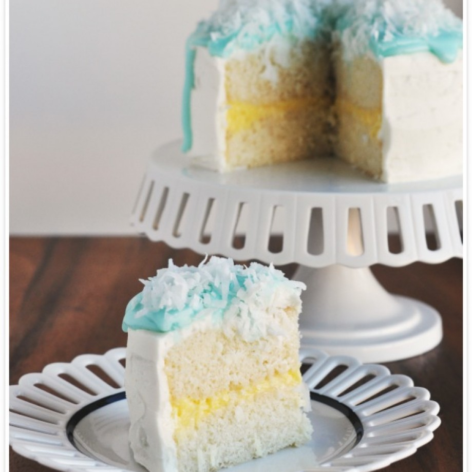 Coconut Cream Cake by Food Family Finds