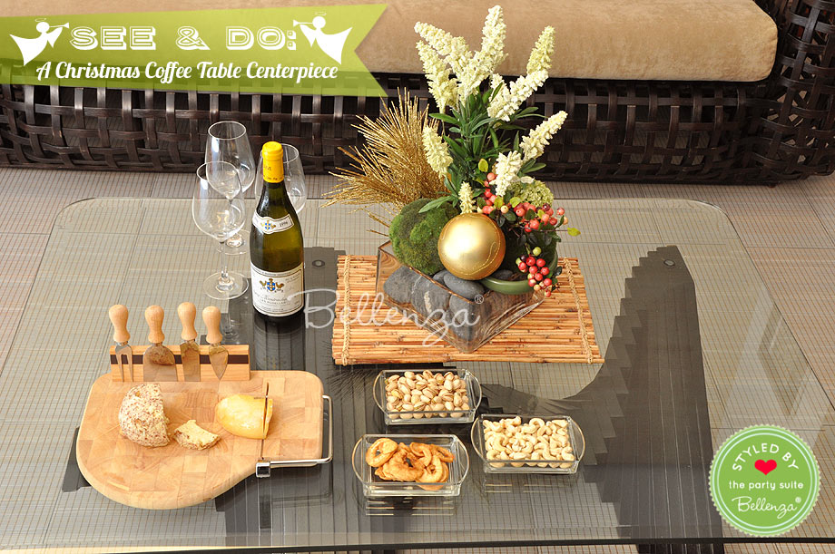How to Make a Holiday Centerpiece for Your Living Room Coffee Table / Styled by Bellenza.