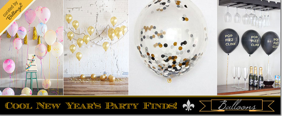 New Year's party balloons