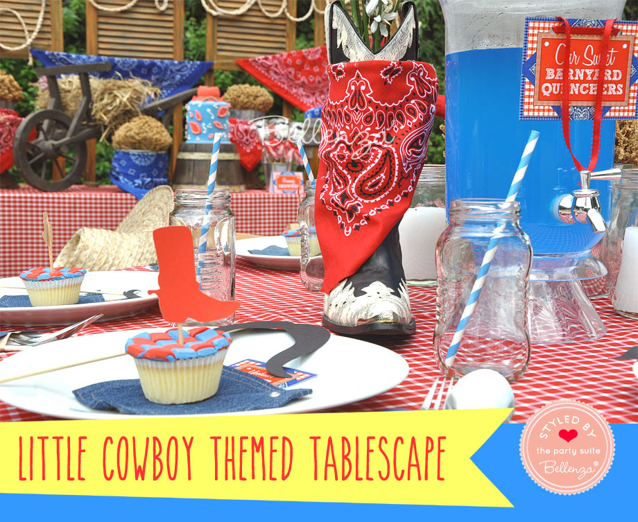 Cowboy tablecape with Western Elements