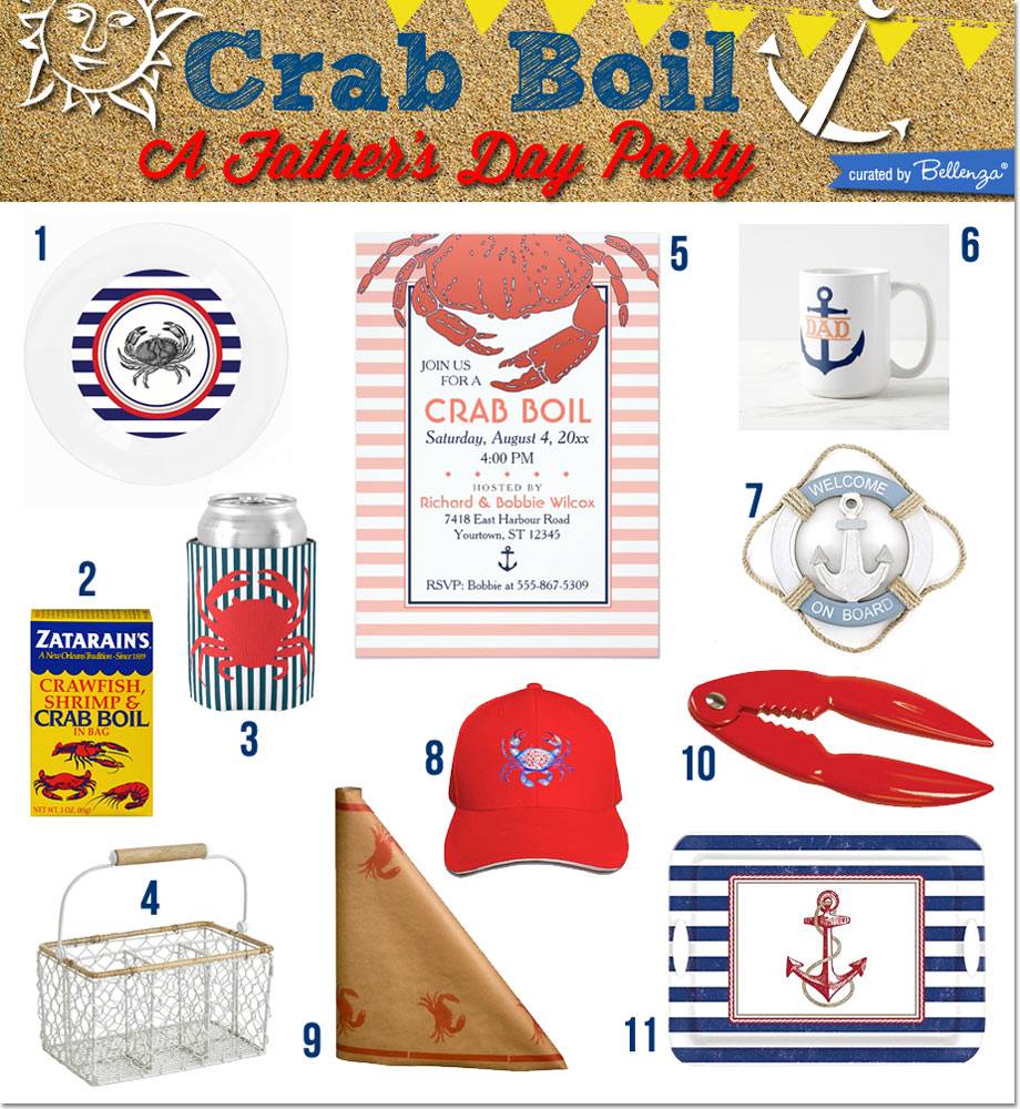 Our Picks for Your Nautical Crab Boil Party for Dad