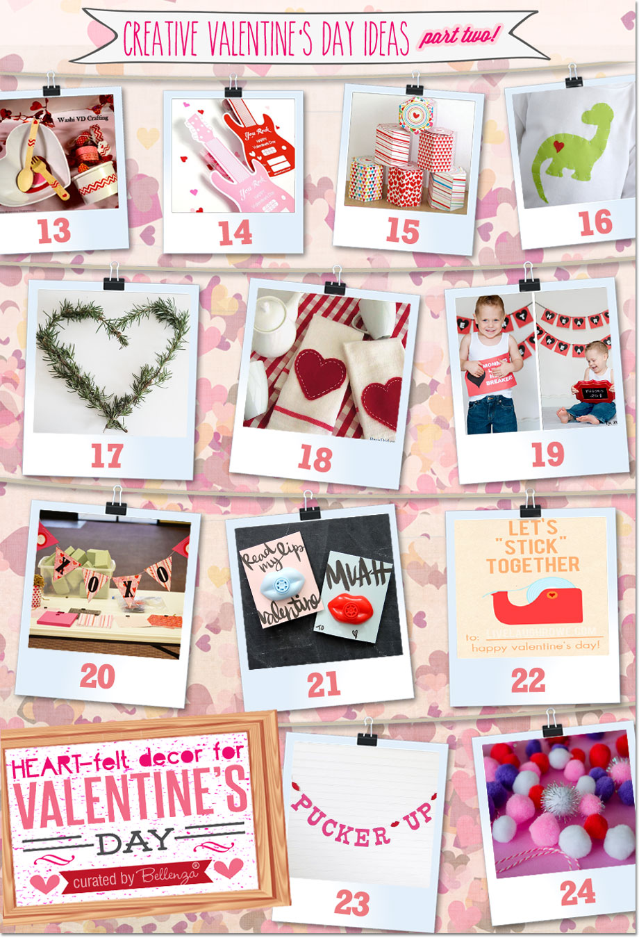 Decorations and gifts for Valentine's Day with a handmade look that includes whimsical and funky designs!