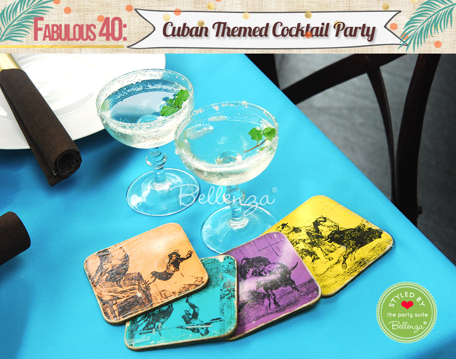 Cuban cocktails and coasters