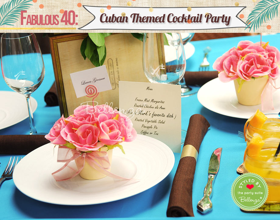 Fabulous 40 Cuban Themed Cocktail Party // styled by Bellenza.