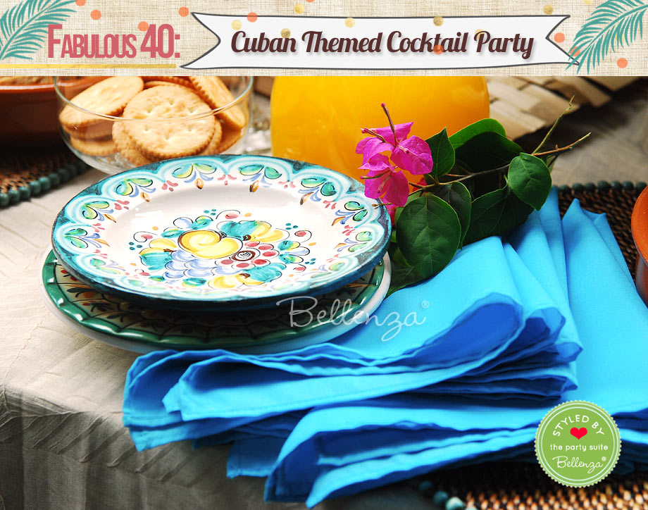 Colorful serveware and table linens