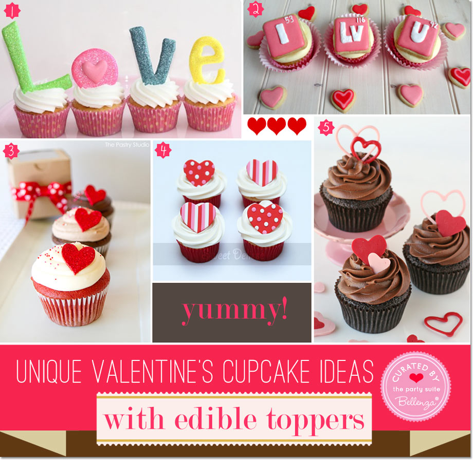 Valentine's cupcakes with love