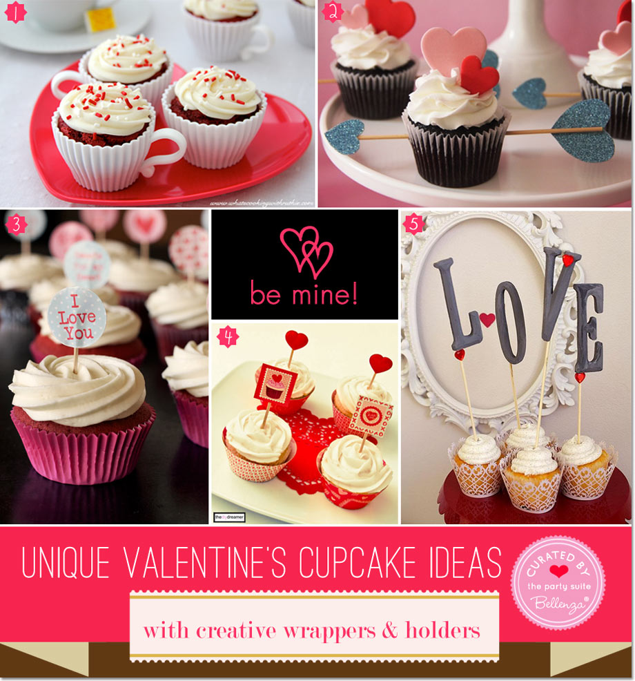 Valentine's cupcake wrappers and holders