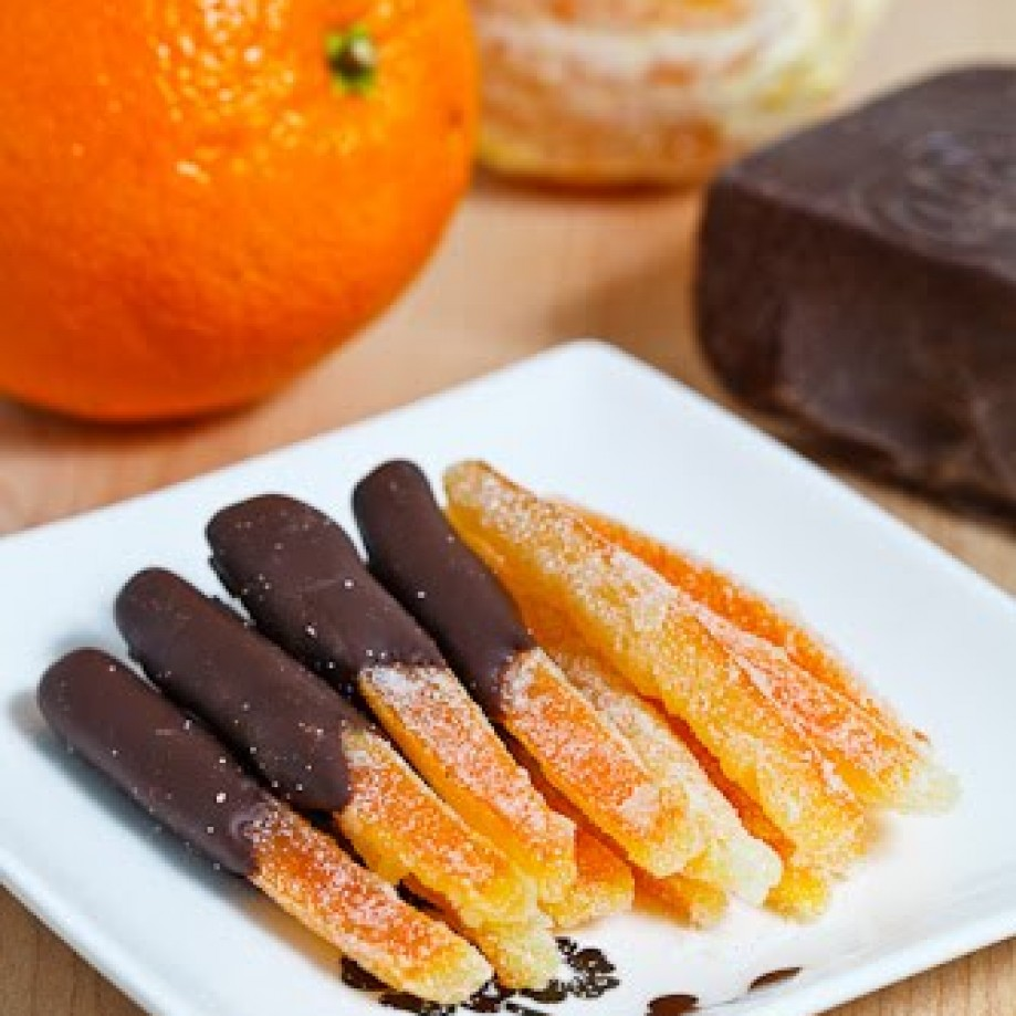 Dark chocolate orange peel by Closet Cooking