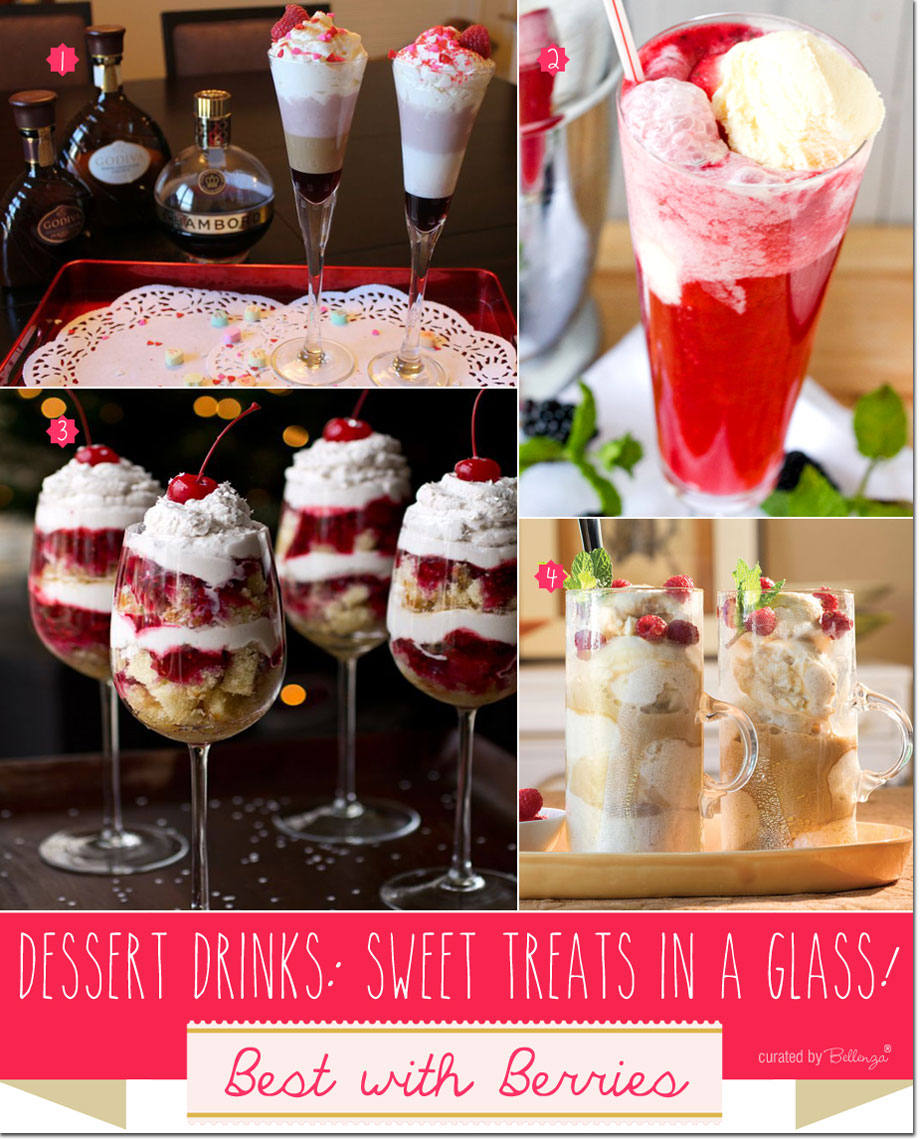 Sweet, Icy Dessert Drinks from Raspberry Liqueur Cocktails to Parfaits Made with Grand Marnier.