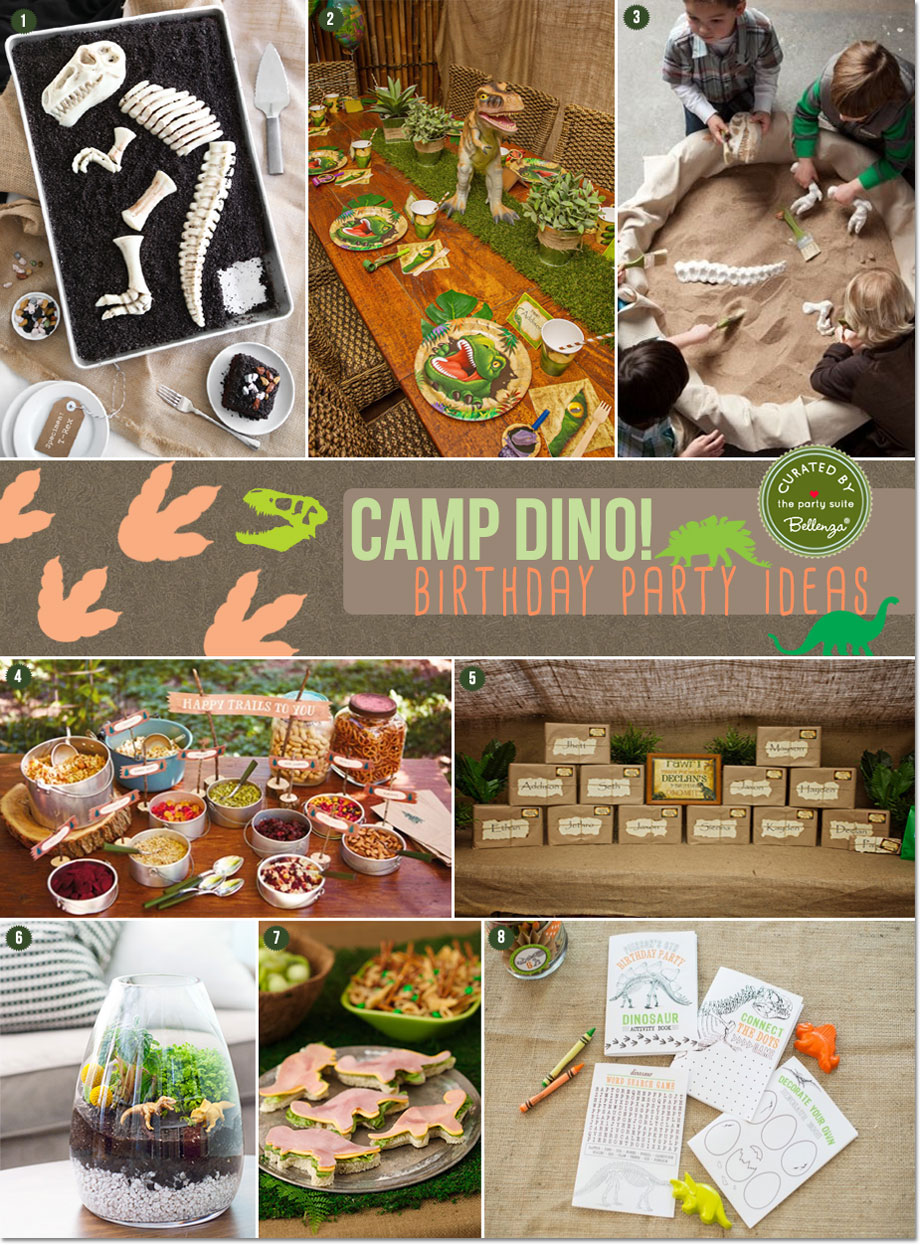 Camp Dino Party! Let's Dig for Fossils Birthday Ideas