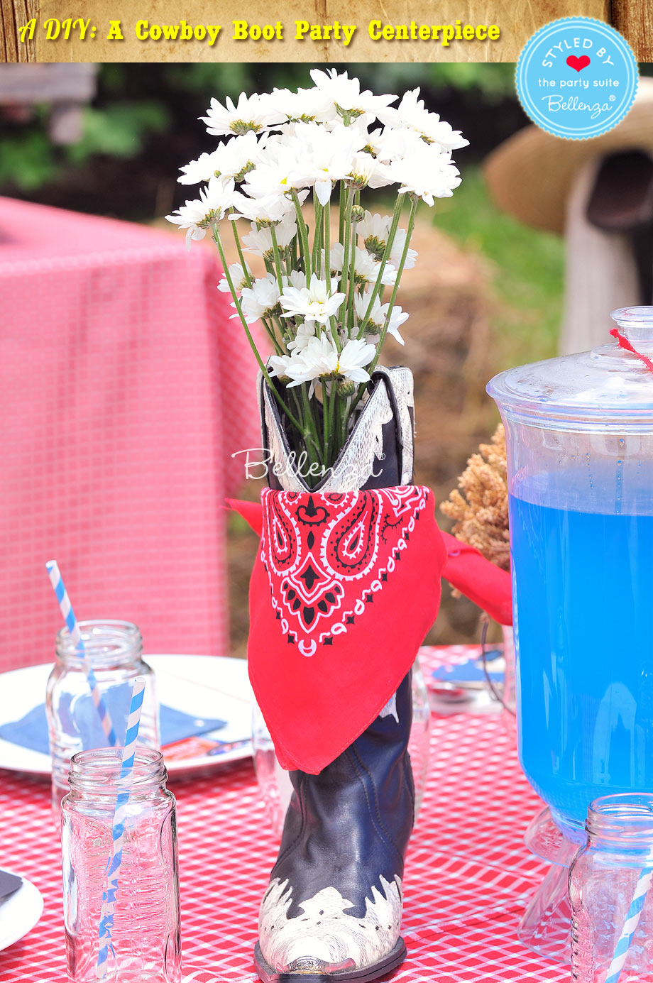 Easy DIY: Cowboy Boot Party Centerpiece in Just 5 Steps!