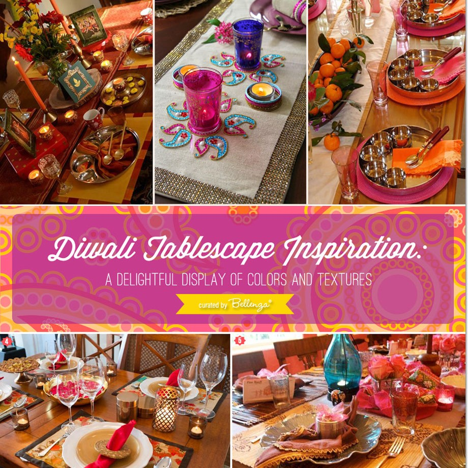 Diwali-inspired tablescapes with the modern family in mind // curated finds by Bellenza