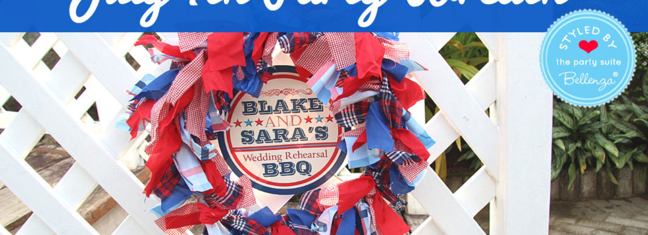 July 4th wreath as a decorations or hostess gifts.
