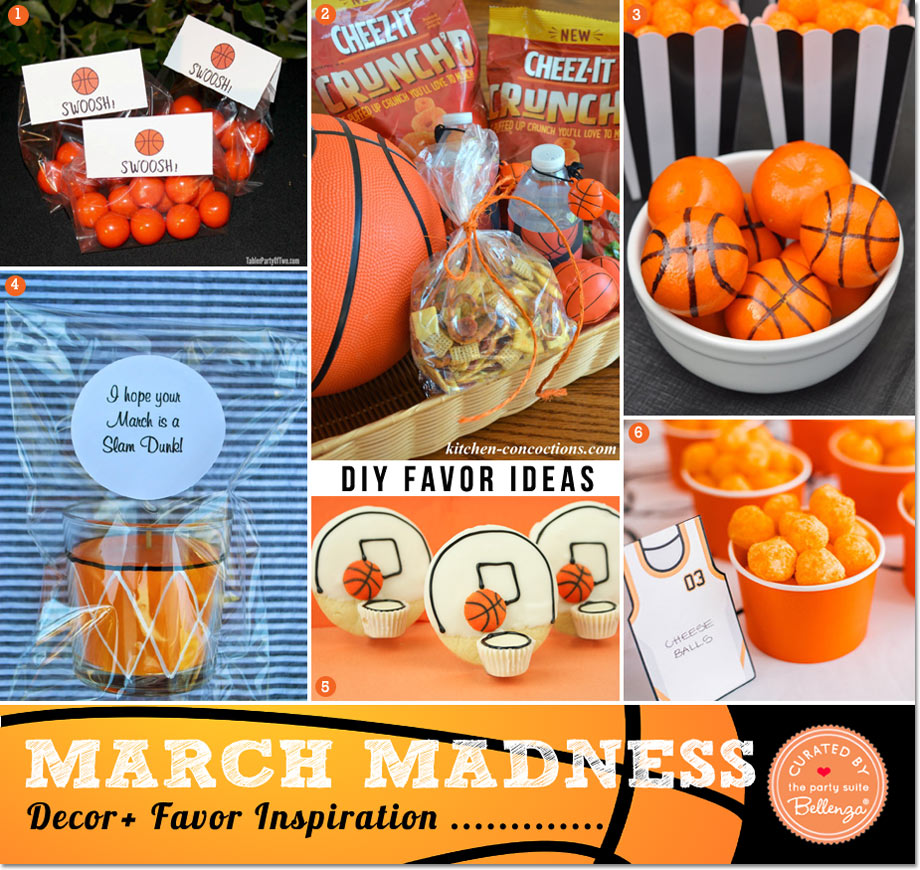 DIY March Madness Party Favors from Gum Balls to Cookies