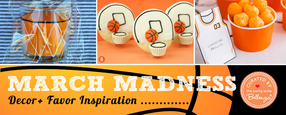 March Madness Themed Party Decorations and Favors to DIY