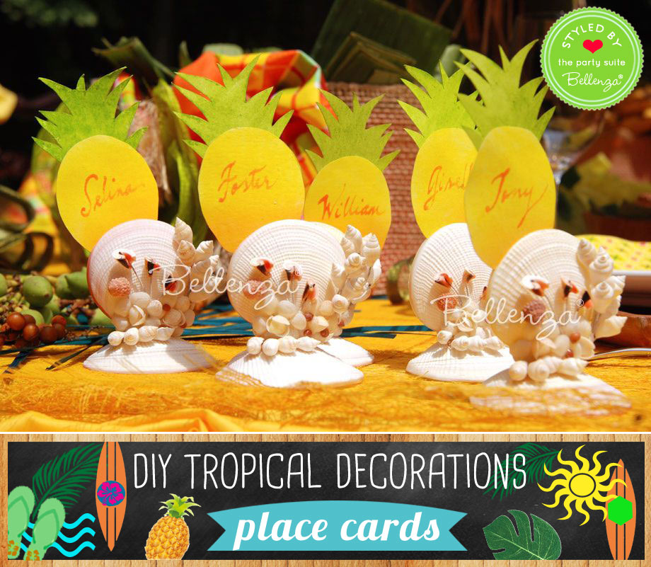 Pineapple place cars to make from yellow paper cutouts.