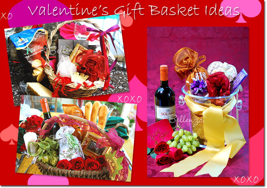 Valentine's Day gift baskets DIY Ideas