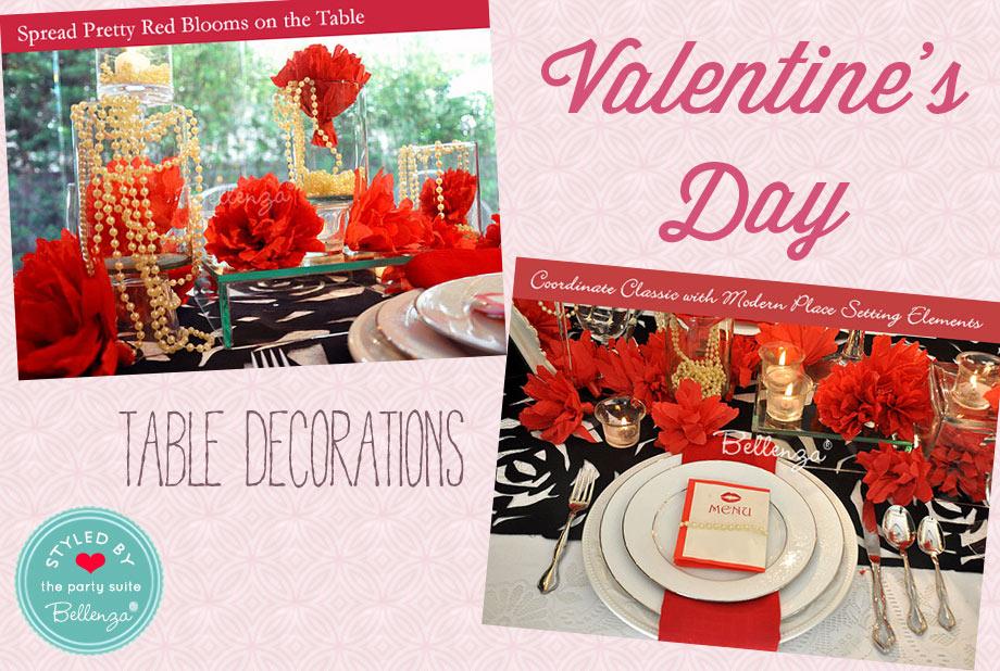 Valentine Party Decorations You Can DIY in Red and Black
