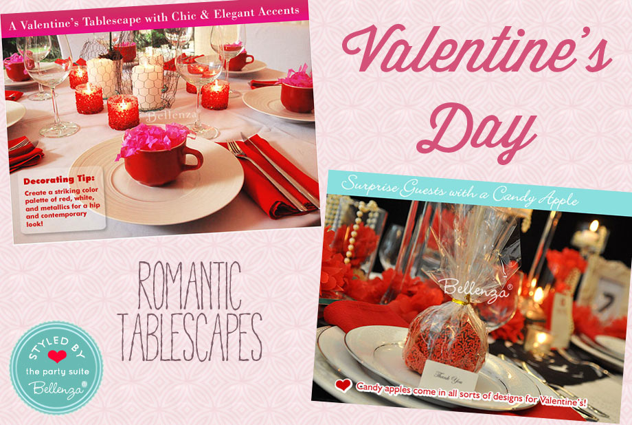 Valentine's Party Tablescapes in Red and White