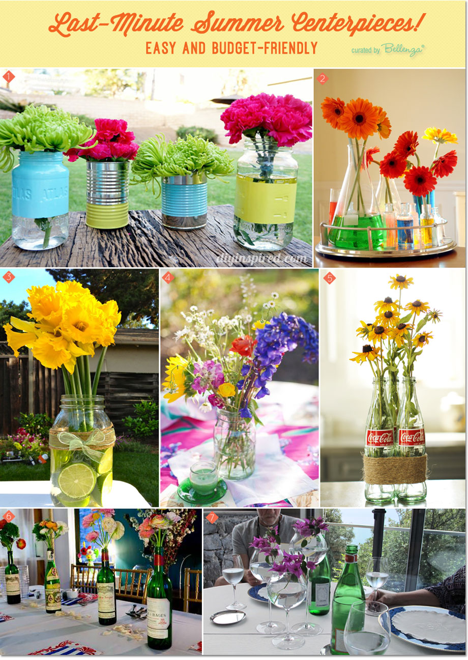 Easy And Budget Friendly Diy Centerpiece Ideas For A Summer Party