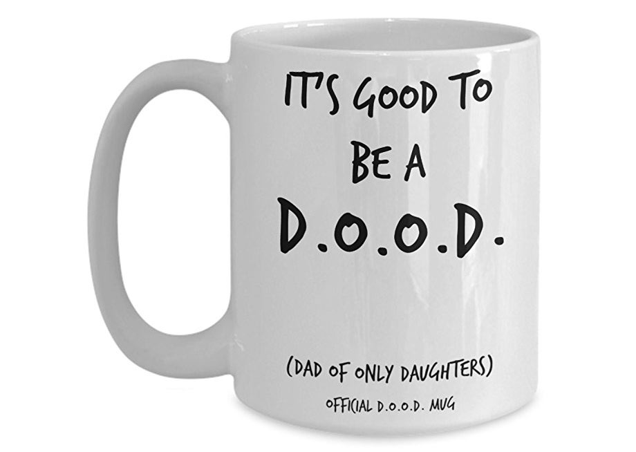 Whimsical mug message for Dad