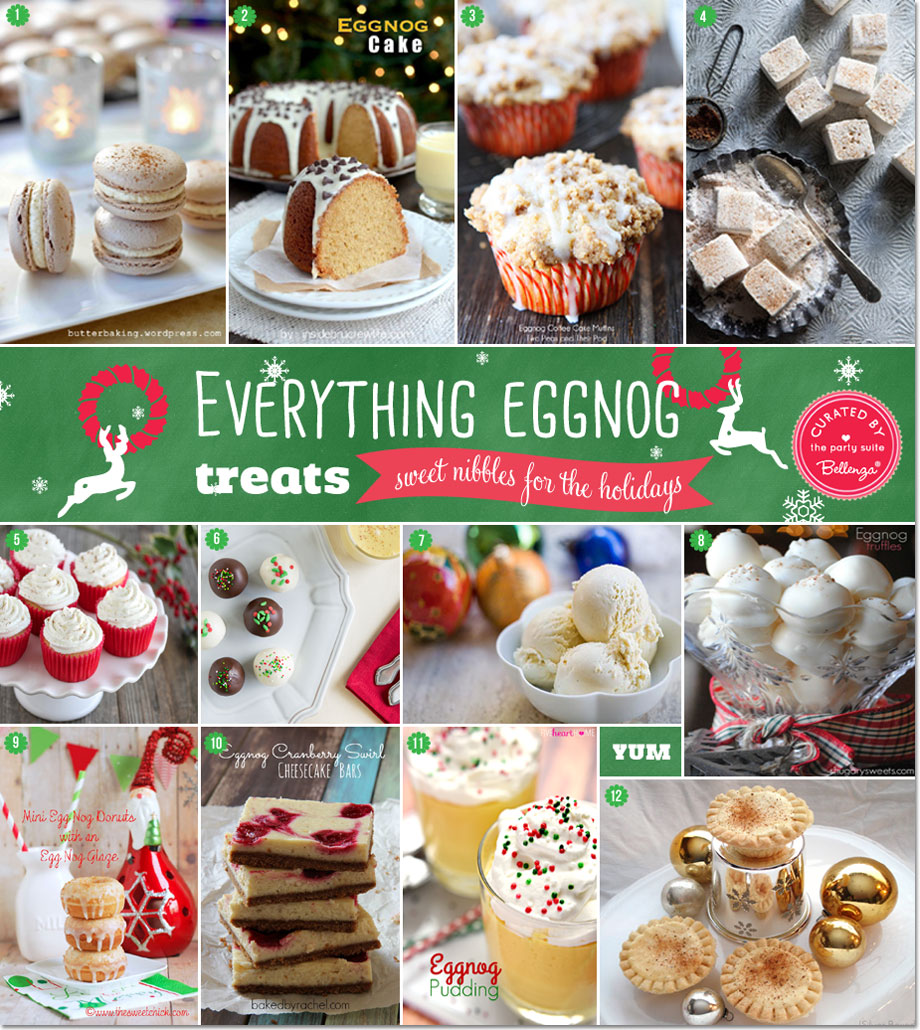 Eggnog Treats Recipes | as Featured on the Party Suite at Bellenza