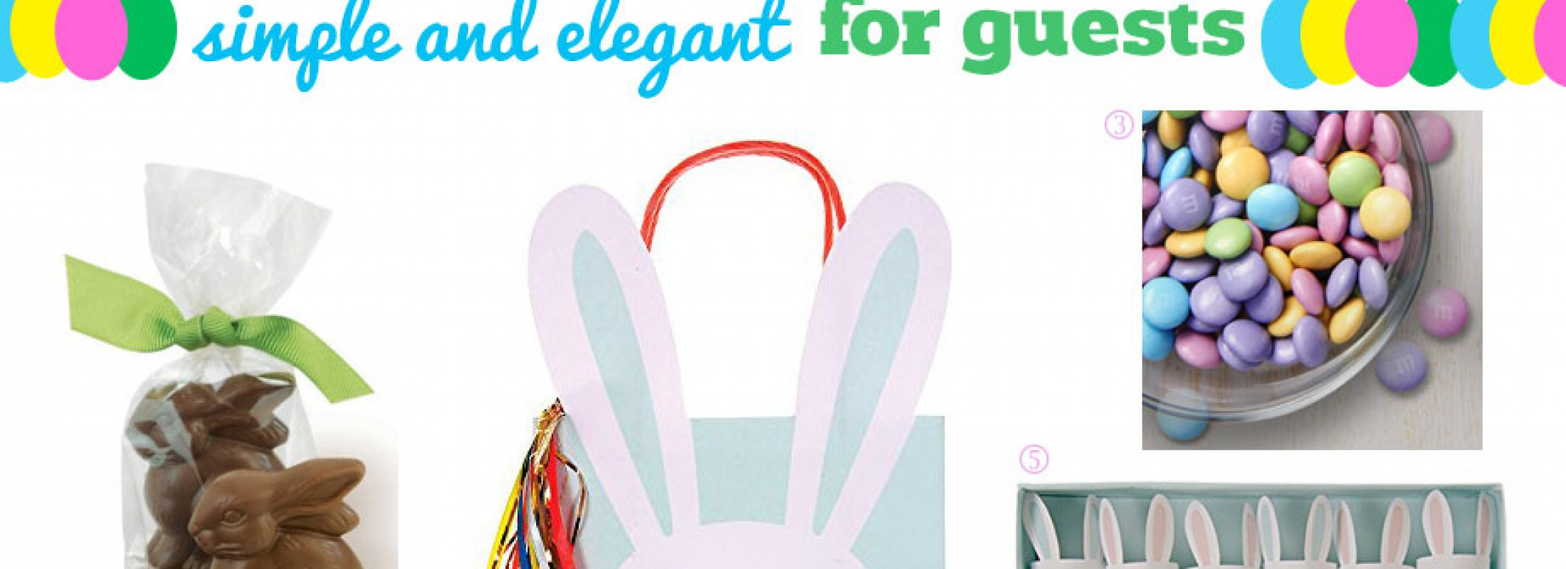 Elegant gift bags for Easter.