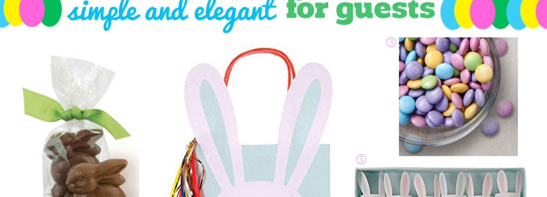 Elegant gift bags for Easter.