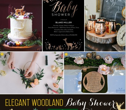 Elegant Woodland Baby Shower Inspiration for Fall