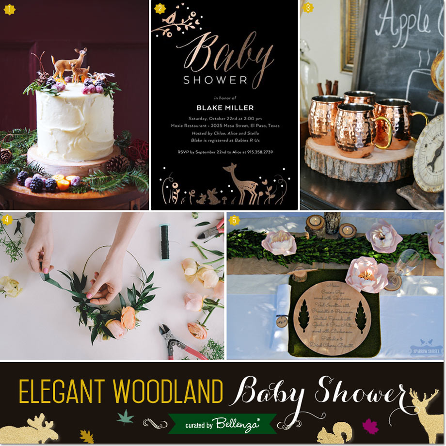 Elegant Woodland Baby Shower Inspiration for Fall // Curated Finds by  Bellenza.
