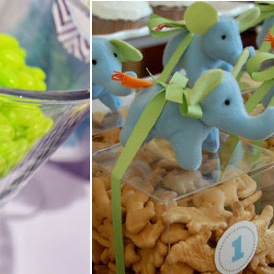 So Bright! A Lime Green and Aqua Baby Shower with Elephants!