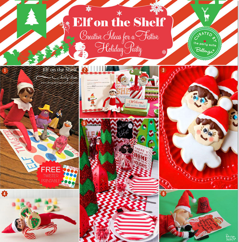 Red and green elf on the shelf birthday theme