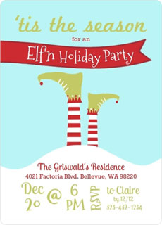 Elf theme invite via Purple Trail