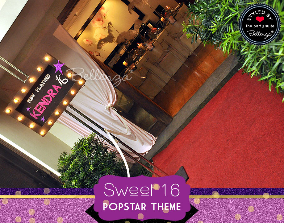 Sweet 16 Popstar theme