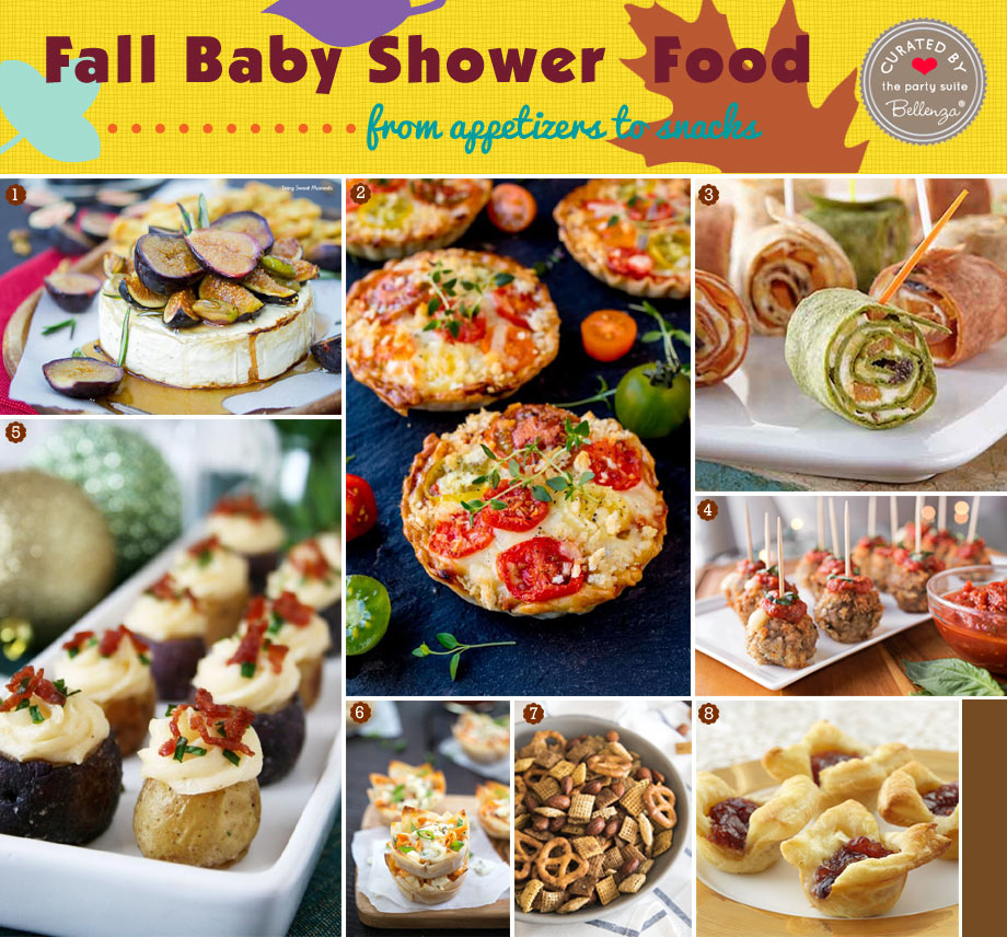 Appetizers for a Fall Baby Shower