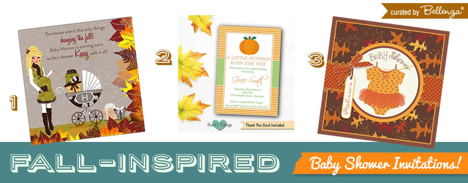 Traditional Fall Baby Showe Iinvites