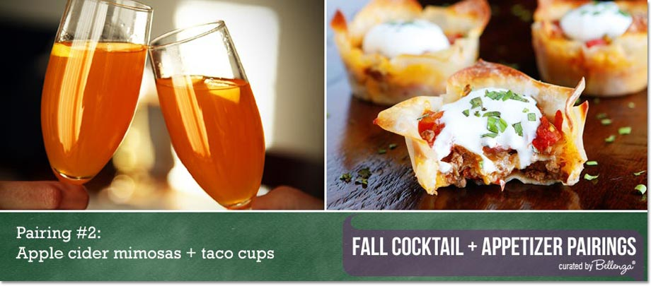 Apple cider mimosas + taco cups / Curated Finds by Bellenza