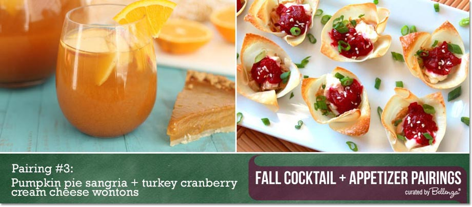 Pumpkin pie sangria + turkey cream cheese wontons / Curated Finds by Bellenza