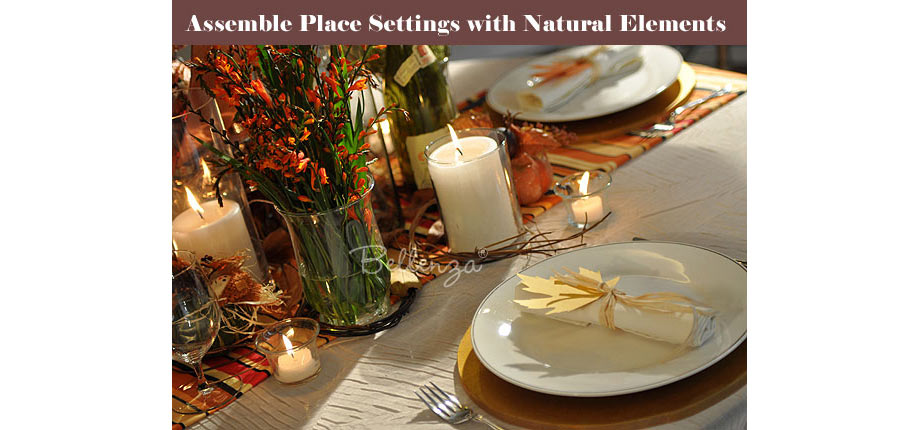 Fall country Thanksgiving place settings