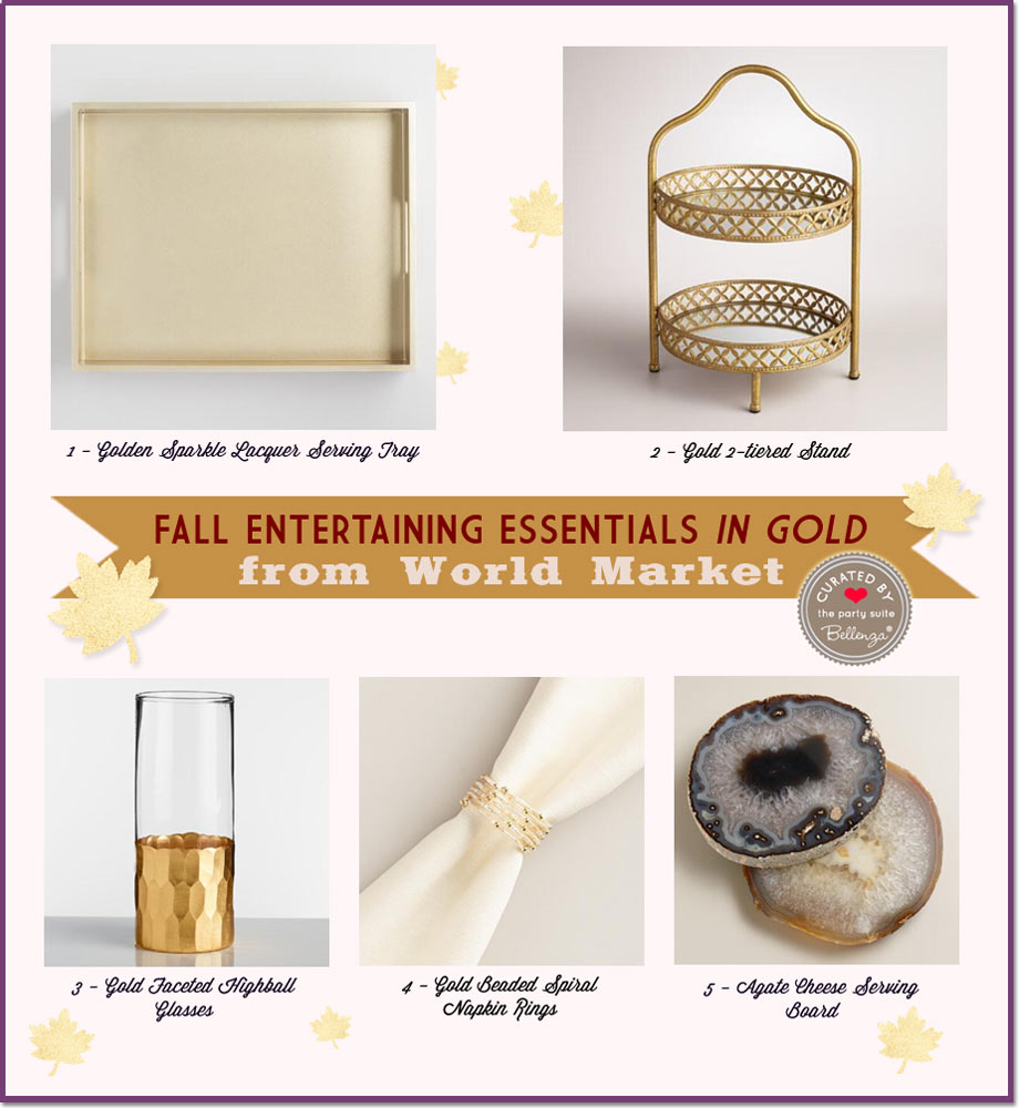 Fall Entertaining Essentials in Gold from World Market