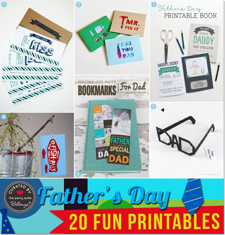 Father's Day Printables for Homemade Gifts