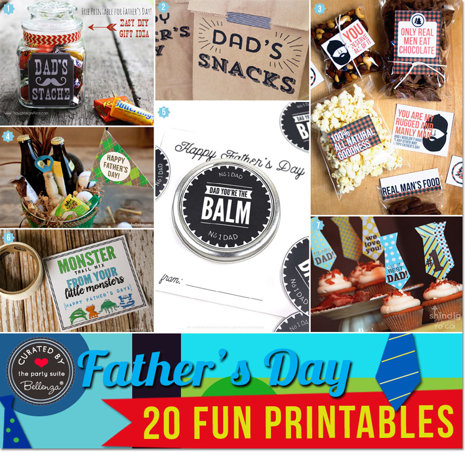Father's Day Printable Gift Tags and Labels for Homemade Gifts for Dad