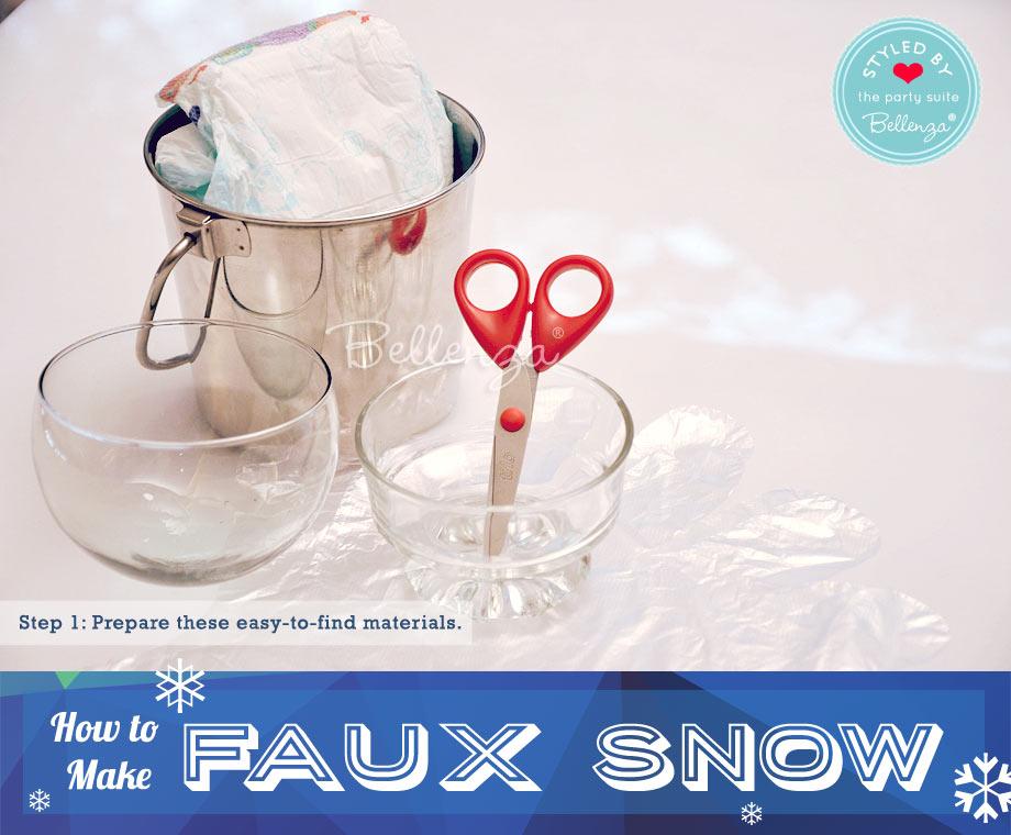 Faux snow materials // Bellenza.