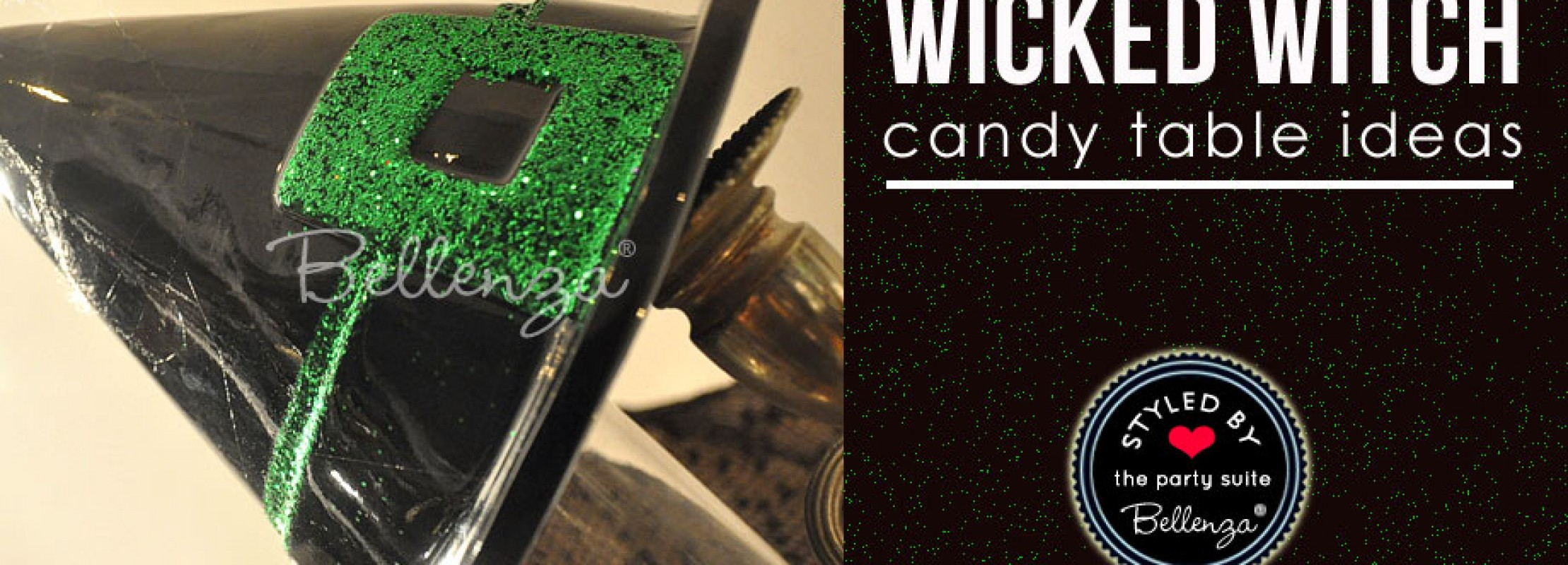 Wicked witch themed candy table